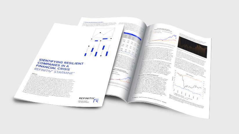 Cover illustrating Starmine white paper - identifying resilient companies in a financial crisis