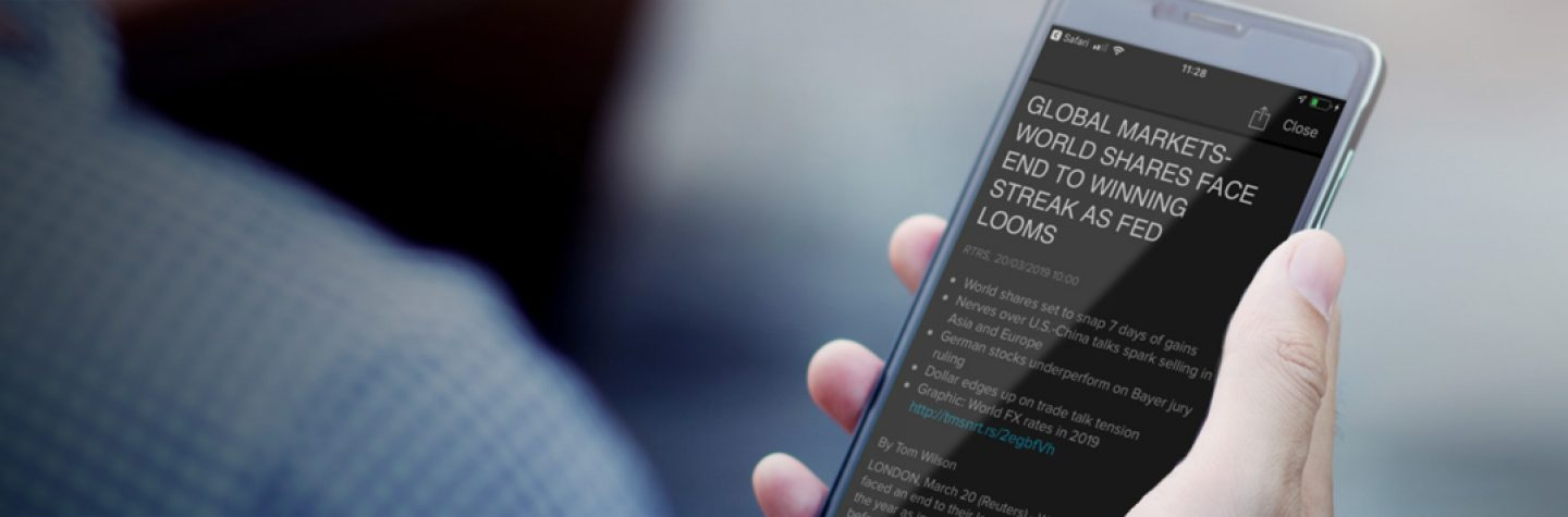 Eikon Digest news on a mobile screen
