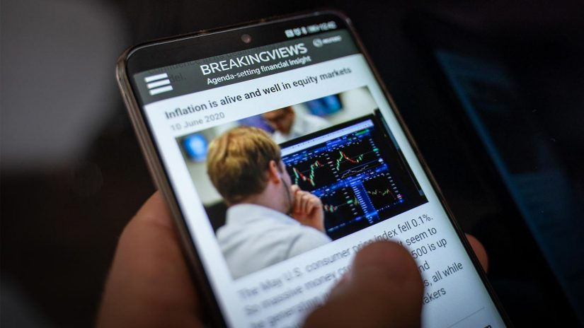The Reuters Breakingviews screen on a mobile device