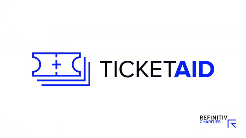 TIcketAid logo representing Refinitiv charities