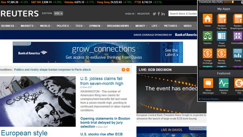 Eikon Google menu bar screenshot