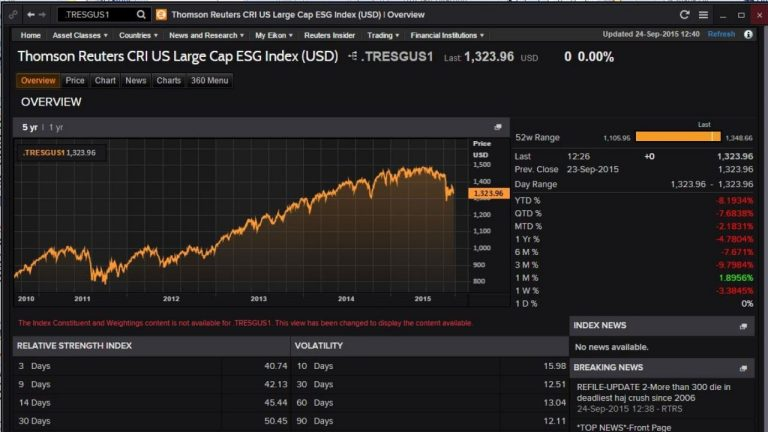 screenshot of Eikon CRI showing ESG data