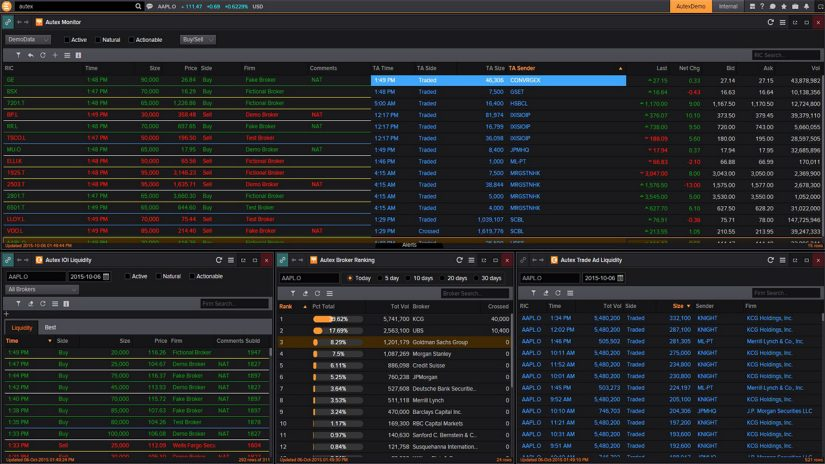 Autex in Eikon for equity trading screenshot