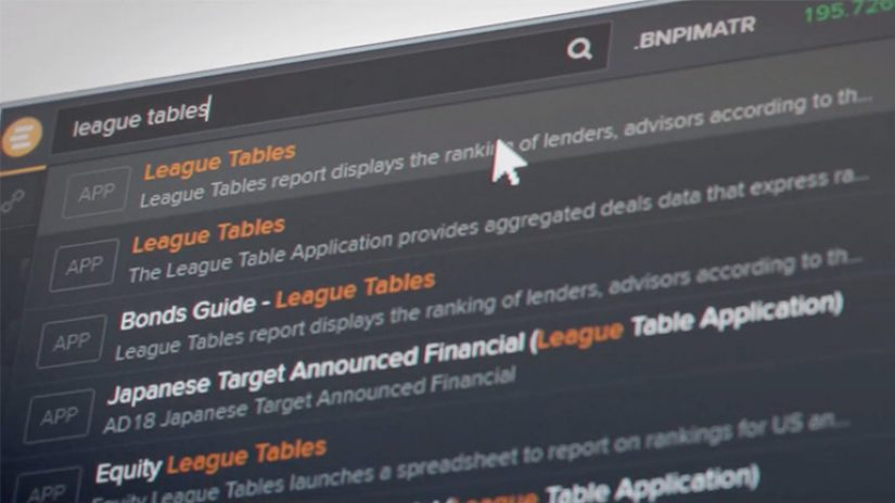 Preview of Eikon for the investment banking community