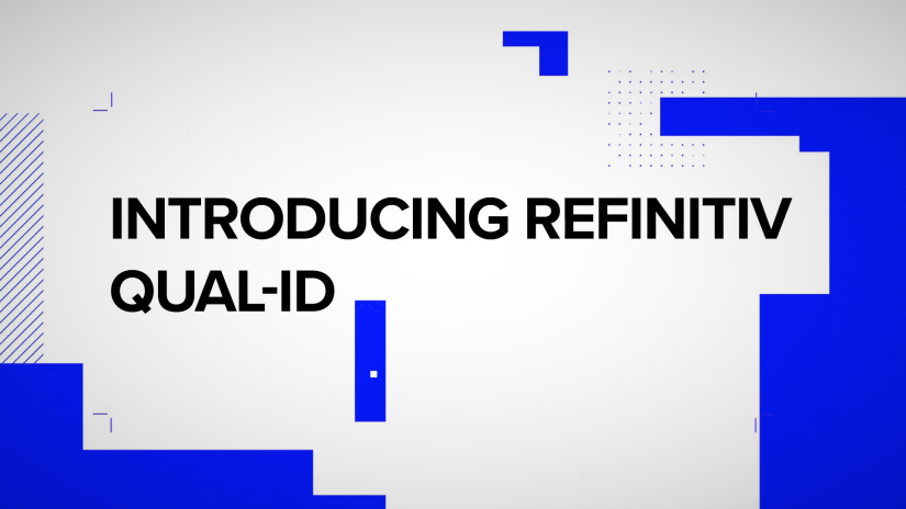 Video introducing Refinitiv Qual-ID powered by Trulioo,  built specifically for financial service providers to provide secure, digital identity verification and screening to boost speed, efficiency, and accuracy.